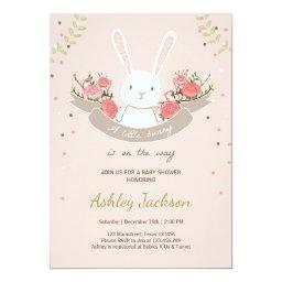 Bunny Baby Shower  Rabbit Spring Floral