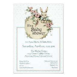 Bunny baby shower invite (CUSTOMIZABLE)