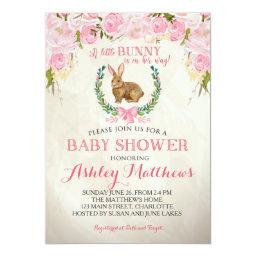 Bunny BABY SHOWER pink Beautiful Floral