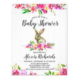 Bunny Rabbit Floral Baby Girl Shower