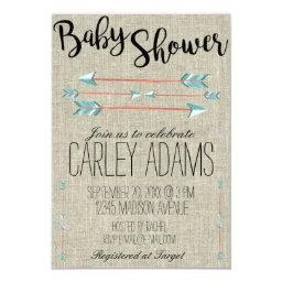 Burlap Adorned with Arrows |  Invite