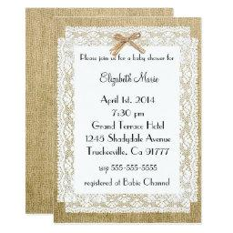 Burlap and Lace-Baby Shower