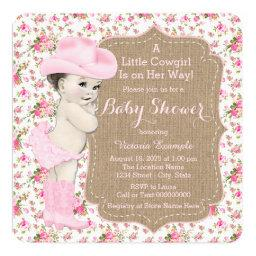 Burlap Cowgirl Baby Shower