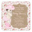Burlap Cowgirl Baby Shower Invitation