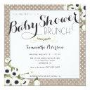 Burlap Flowers Baby Shower Brunch
