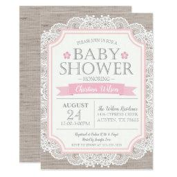 Burlap Pink & Lace Baby Shower