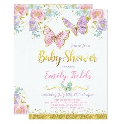 Butterfly Baby Shower  Girl Baby Shower