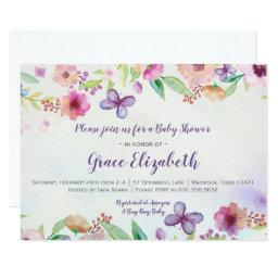 Butterfly Floral Watercolor Baby Shower