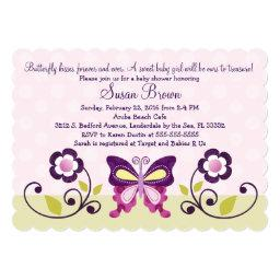 Butterfly Lane & Flowers Baby Shower