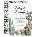 Cactus Greenery Baby Brunch Baby Shower Invitation