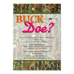 Camo   - Buck or Doe