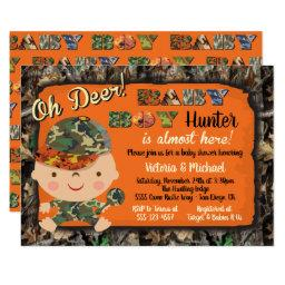Camo Hunting Baby Shower Invitationss
