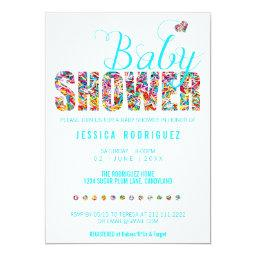Candy Theme Baby Shower Party It's A Boy Invitation