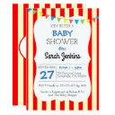 Carnival Circus Stripe Baby Shower Invitation
