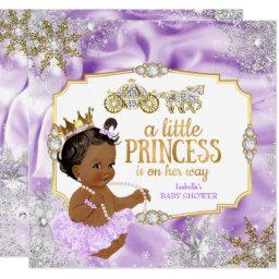 Carriage Princess Baby Shower Purple Ethnic