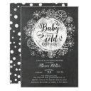 Chalkboard Baby It's Cold Outside Invitations