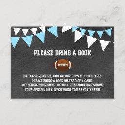 Chalkboard Football Bring A Book Baby Shower Enclosure Card