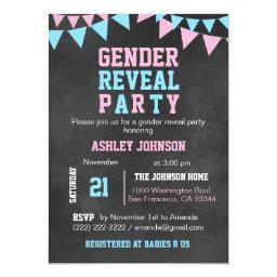 Chalkboard GENDER REVEAL PARTY Baby Shower