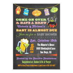 Chalkboard Halloween Baby Shower