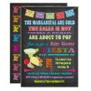 Chalkboard Mexican Fiesta Couples Baby Shower Invitations