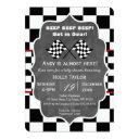 Chalkboard Racing Baby Shower Invitation
