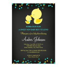 Chalkboard Rubber Duck Baby Shower