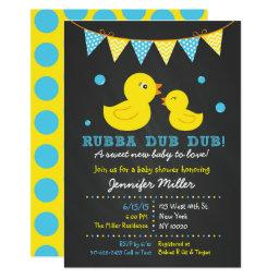 Duck baby shower invitations babyshowerinvitations4u chalkboard rubber duck baby shower filmwisefo