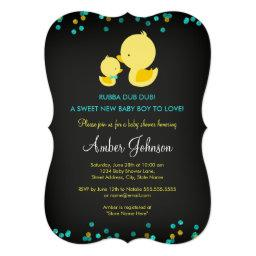 Chalkboard Rubber Duck  Invite