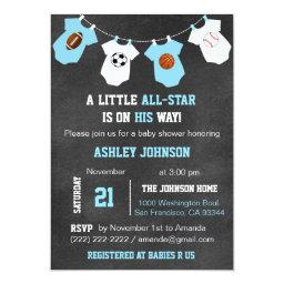 Chalkboard Sports Little All-star Baby Shower