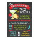 Chalkboard Tacos And Tequila Couples Baby Shower Invitation