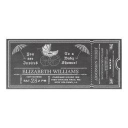 Chalkboard Vintage Baby Shower Ticket