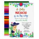 Charro Mexican Boy Baby Shower Invitation