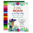 Charro Muchacho Mexican Boy Baby Shower Invitation
