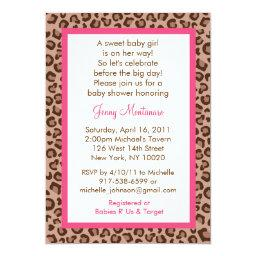 Cheetah Girl Animal Print Baby Shower