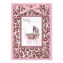 Cheetah Girl Invitation Invitations Pink A
