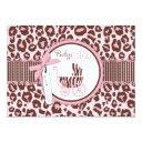 Cheetah Girl Invitation Invitations Pink B