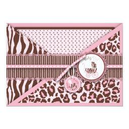 Cheetah Girl Invitation  Pink C
