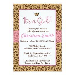 Cheetah Print Baby Shower  for a Girl