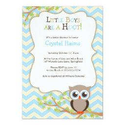 Chevron Owl Themed Baby Shower  - Boy