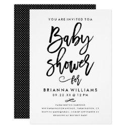 Chic Hand Lettered Baby Shower