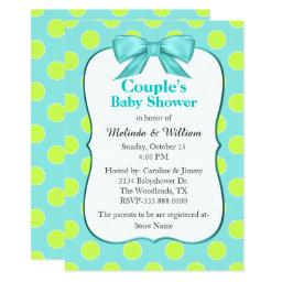 Chic Polka Dot Couple's Baby Shower Invitations