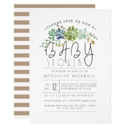 Chic Succulent Garden | Watercolor Baby Shower