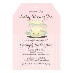 Chic Teacup on Pink Baby Shower Tea Party