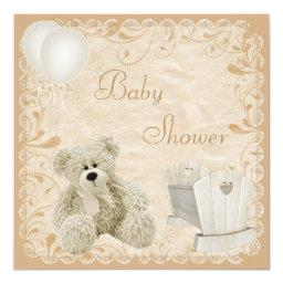 Chic Teddy & Crib Neutral Baby Shower