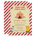 Circus Animal Baby Shower Invitation