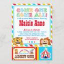 Circus Carnival Baby Shower Party Invitation