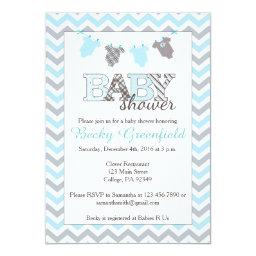 Clothesline Baby Shower  for a Boy