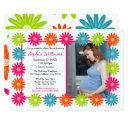 Colorful Daisies - Baby Shower Invitation