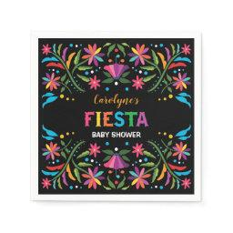 Colorful Fiesta / Mexican Flowers Shower Birthday Napkin