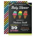 Colorful Ice Cream Baby Shower Invitation